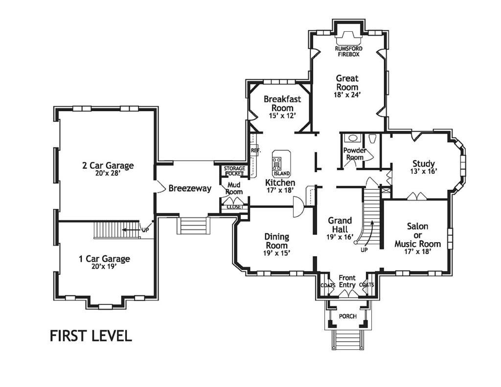 residential floor plan drawing blueprint