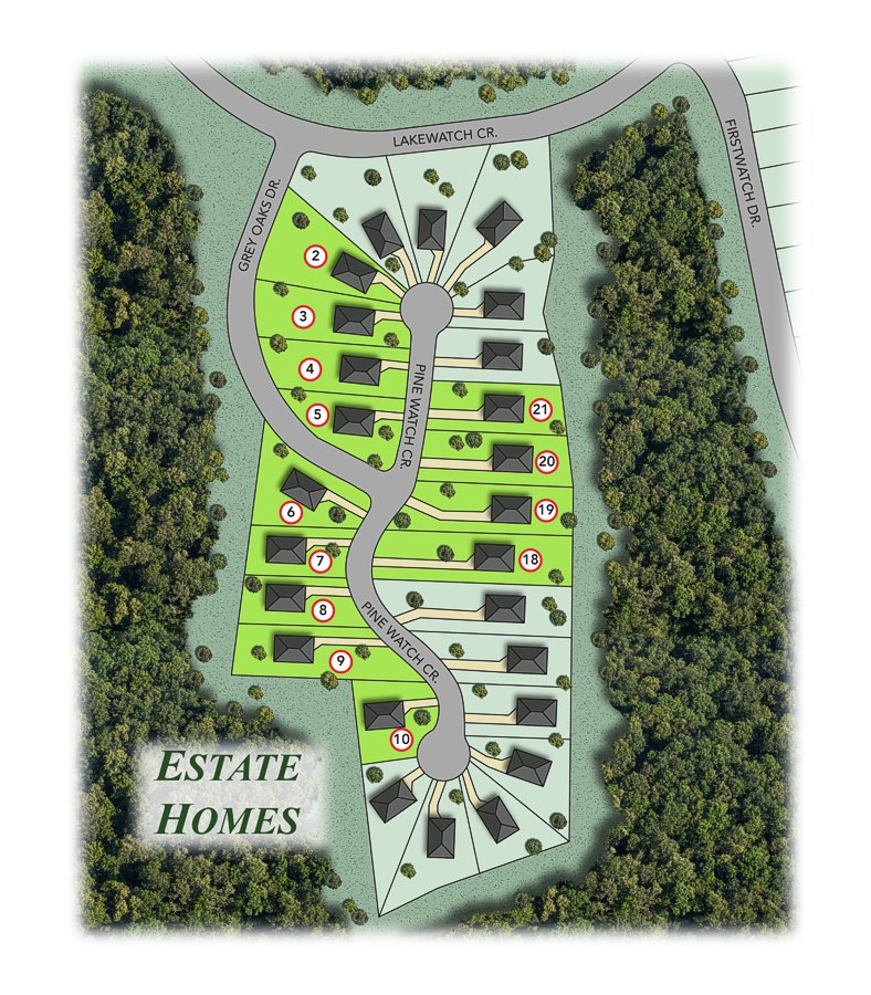 residential complex map drawing