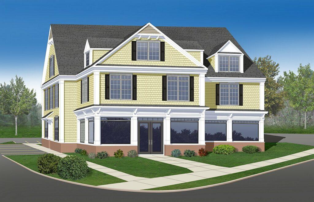 3D commercial rendering exterior