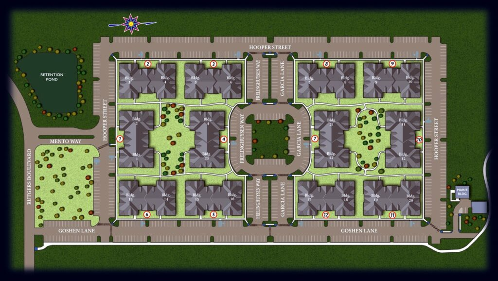 residential complex map rendering
