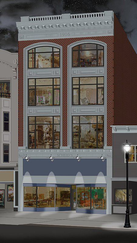 exterior commercial rendering in color