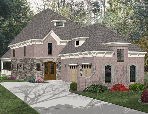 3D color home rendering